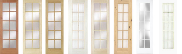 Glass Panel 10 Lite Doors: For Part Numbers And Sizes Of Door, Click On  Species Name (above Door)