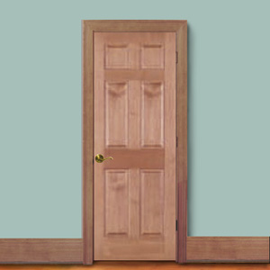 Cherry 6 Panel Door The Outstanding Grain Coupled With Ease Of Finishing  Give Any Decore A Warm Natural Look. Wood Species