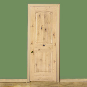 knotty alder 2panel arch door the outstanding natural look of knotty alder is aperfect match for todayu0027s casual living